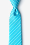 Turquoise Silk Yapen Extra Long Tie