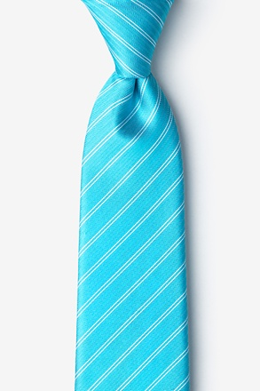 _Yapen Turquoise Extra Long Tie_