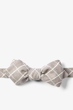 Twig Philip Check Diamond Tip Bow Tie