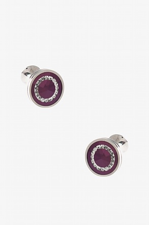 Round Bejeweled Cufflinks