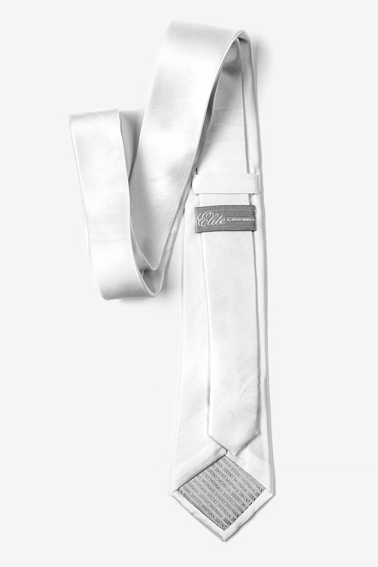 "Wedding Day White 3"" Skinny Tie"