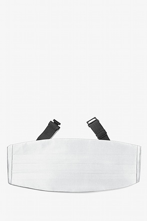 Wedding Day White Cummerbund