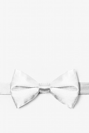 Wedding Day White Pre-Tied Bow Tie
