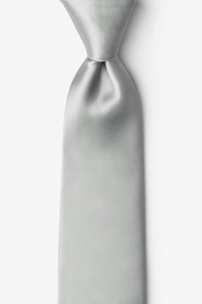 "_Wedding Silver 2.25"" Skinny Tie_"