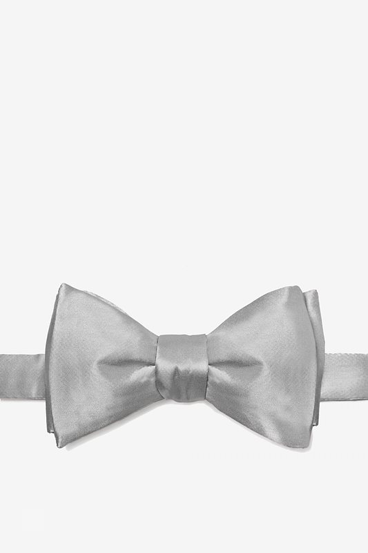 Wedding Silver Bow Tie