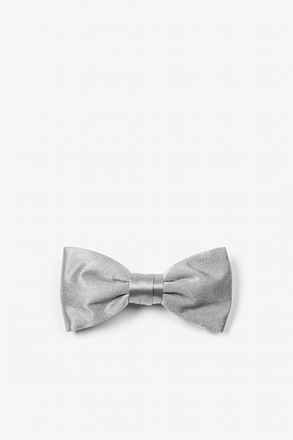 Wedding Silver Bow Tie For Infants