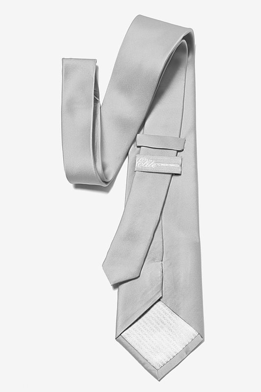 Wedding Silver Extra Long Tie