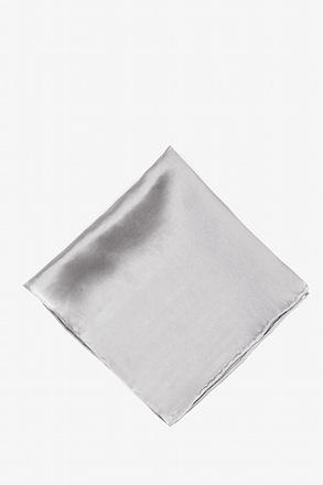 Wedding Silver Pocket Square