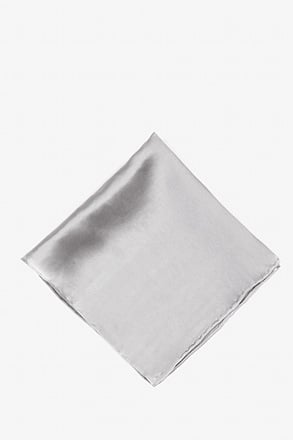 _Wedding Silver Pocket Square_