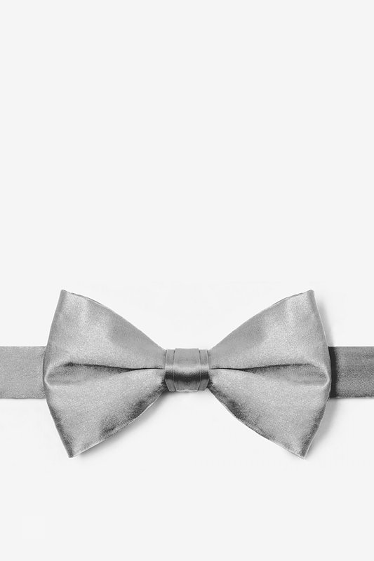 Wedding Silver Pre-Tied Bow Tie Photo (0)