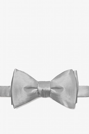 _Wedding Silver Self-Tie Bow Tie_