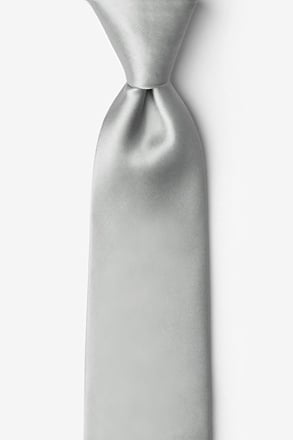 _Wedding Silver Tie For Boys_