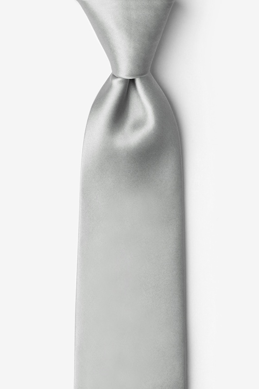 Wedding Silver Tie For Boys