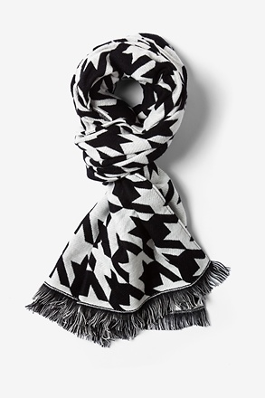Black And White Bristol Houndstooth Scarf