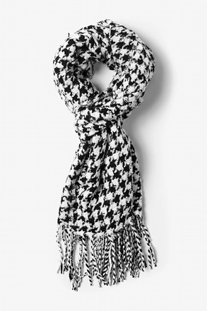 White Berlin Houndstooth Scarf