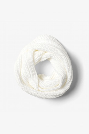 White Concord Knit Infinity Scarf
