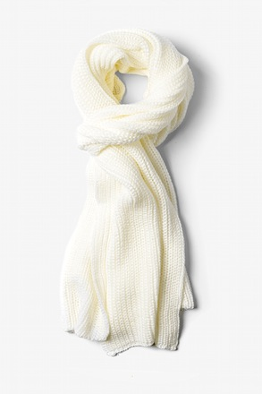 White Kingston Knit Scarf