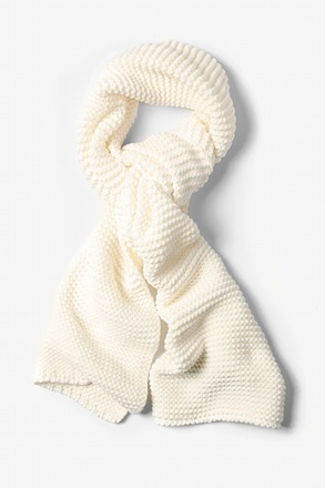 White Liverpool Knit Scarf