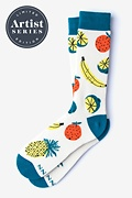 White Carded Cotton Alynn® X Jordan Sondler Fruit Sock