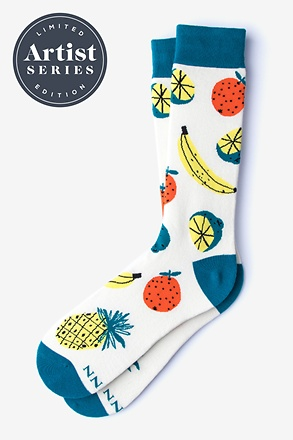 _Alynn® X Jordan Sondler Fruit White Sock_