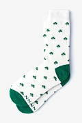 White Carded Cotton My Lucky Socks Women's Sock