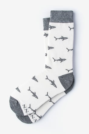 Shark Bait White Women's Sock