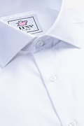 White Cotton Aiden Cutaway Collar