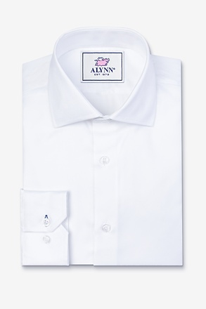 _Aiden Cutaway Collar White Classic Fit Dress Shirt_