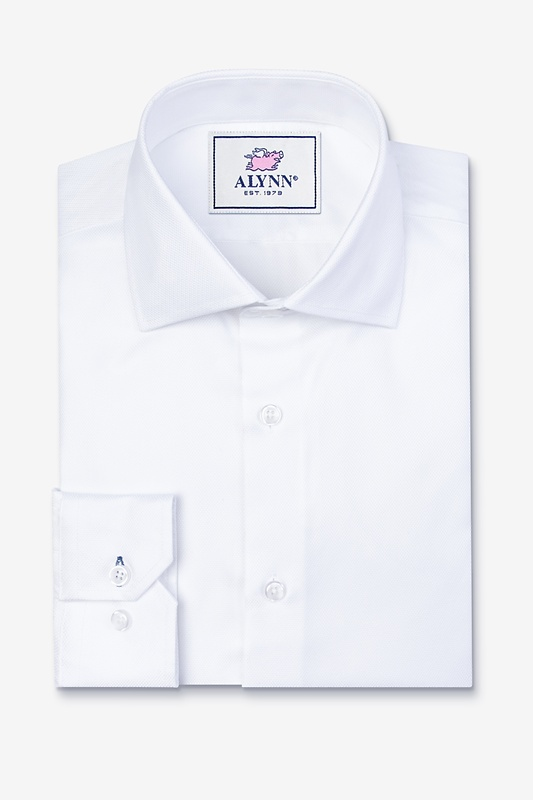 Aiden Cutaway Collar White Classic Fit Dress Shirt Photo (0)