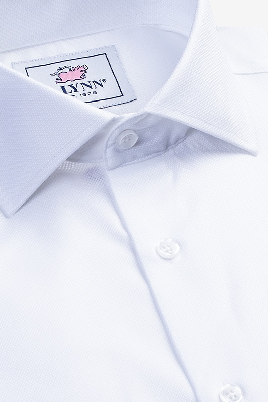 Aiden Cutaway Collar White Classic Fit Dress Shirt Photo (2)