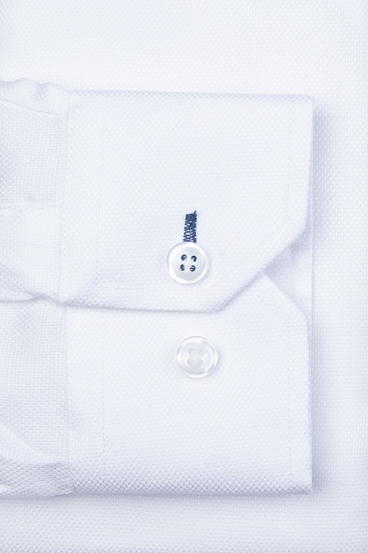 Aiden Spread Collar White Slim Fit Dress Shirt Photo (1)
