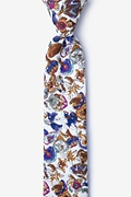 White Cotton Angelo Skinny Tie