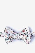 White Cotton August Butterfly Bow Tie