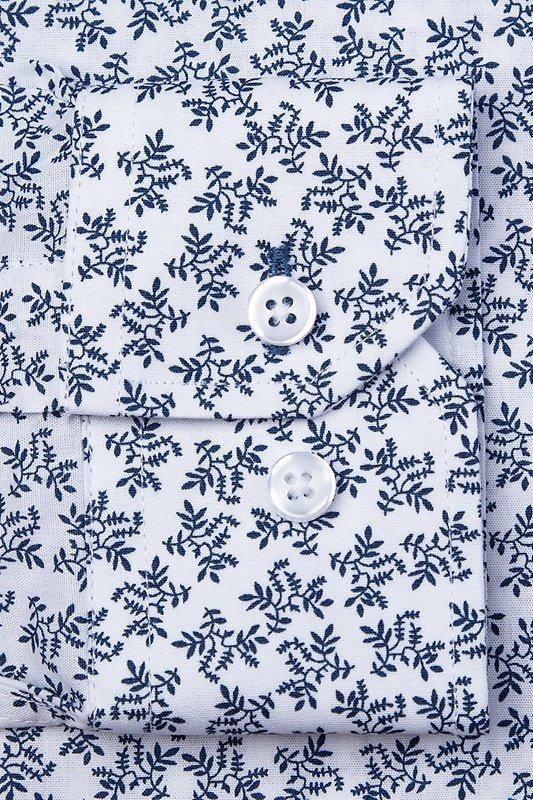 Brooks Floral White Classic Fit Untuckable Dress Shirt Photo (2)
