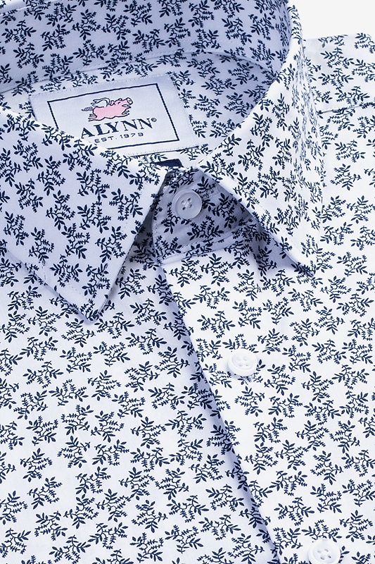 Brooks Floral White Classic Fit Untuckable Dress Shirt Photo (1)