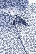 Brooks Floral White Slim Fit Untuckable Dress Shirt Photo (2)