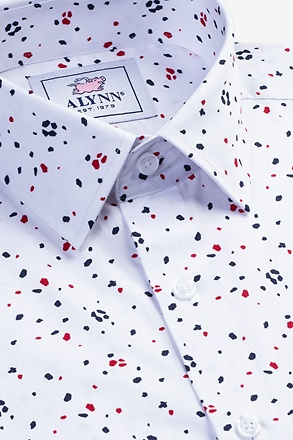 Carter White Slim Fit Untuckable Dress Shirt