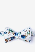White Cotton Core Butterfly Bow Tie