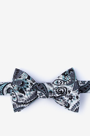_Gannon White Self-Tie Bow Tie_