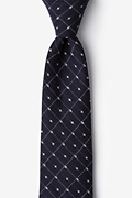 White Cotton Gresham Extra Long Tie