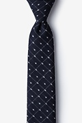 White Cotton Gresham Skinny Tie