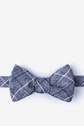 White Cotton Harley Butterfly Bow Tie