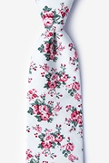 White Cotton Kew Extra Long Tie