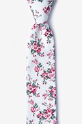 White Cotton Kew Skinny Tie