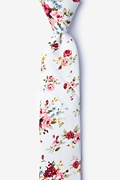 White Cotton Luther Skinny Tie