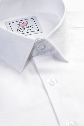 Oliver Herringbone Slim Fit Dress Shirt