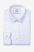 Percy White Slim Fit Untuckable Dress Shirt Photo (0)