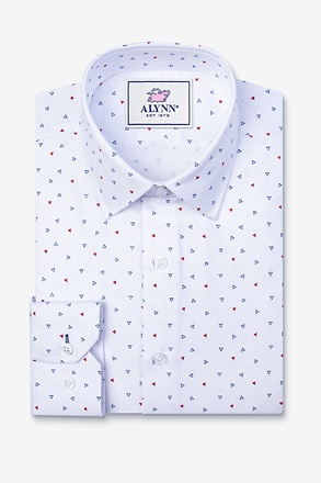 _Percy White Slim Fit Untuckable Dress Shirt_