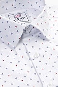 Percy White Slim Fit Untuckable Dress Shirt Photo (2)
