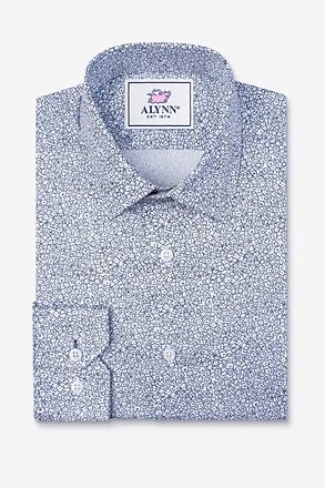 _Reid Floral White Slim Fit Untuckable Dress Shirt_